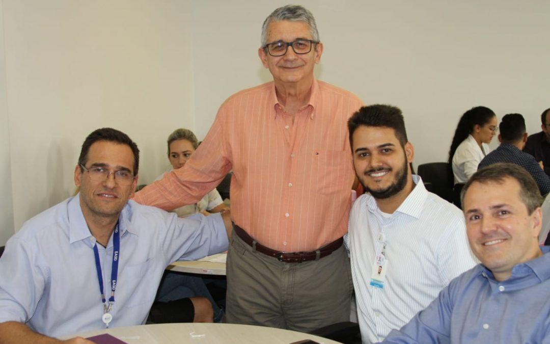 Consultor Flávio Mesquita, Diretor Técnico Sérgio Vêncio e o Diretor Adminsitrativo David Christopher